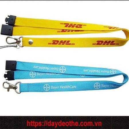 In dây đeo DHL đẹp nhiều màu