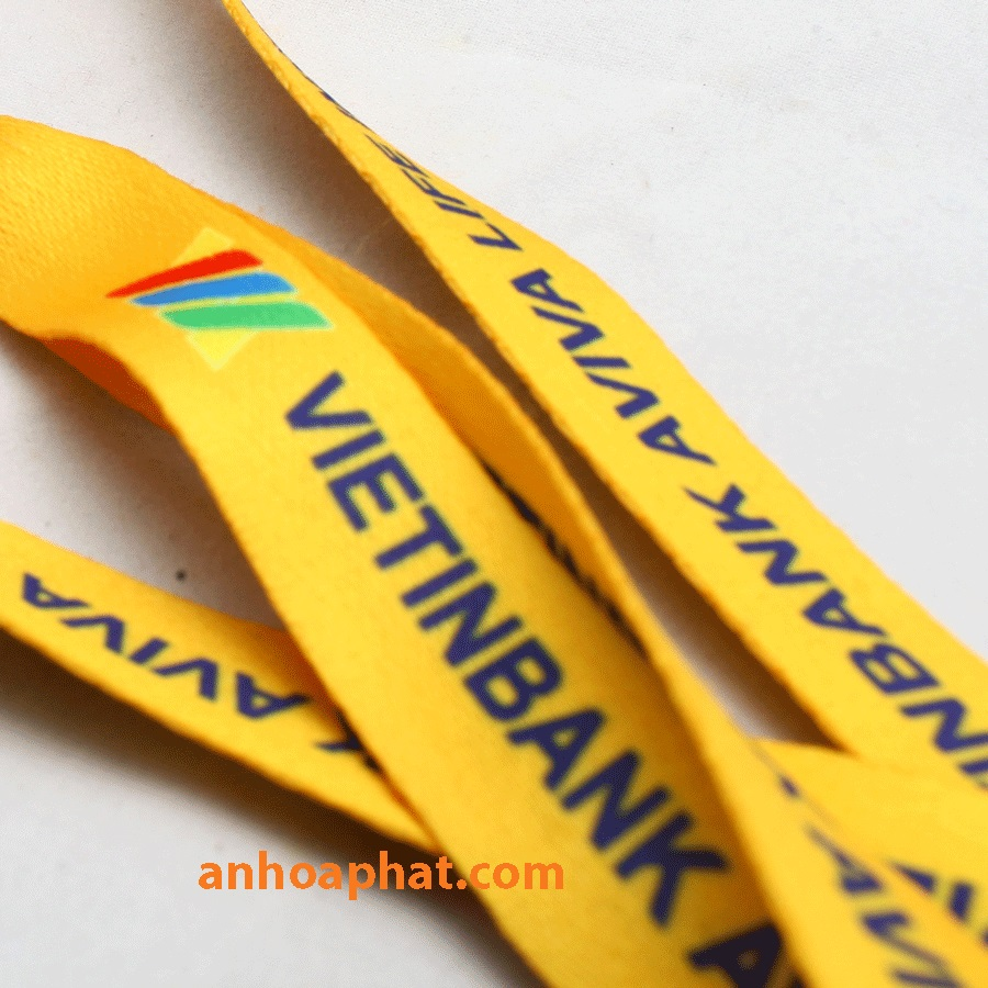 P - 04 Polyester with printing lanyard - Dây đeo Polyester